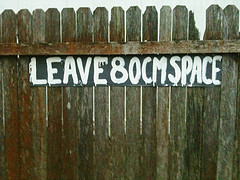 Leave 80cm Space