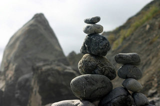 rock piles of different size