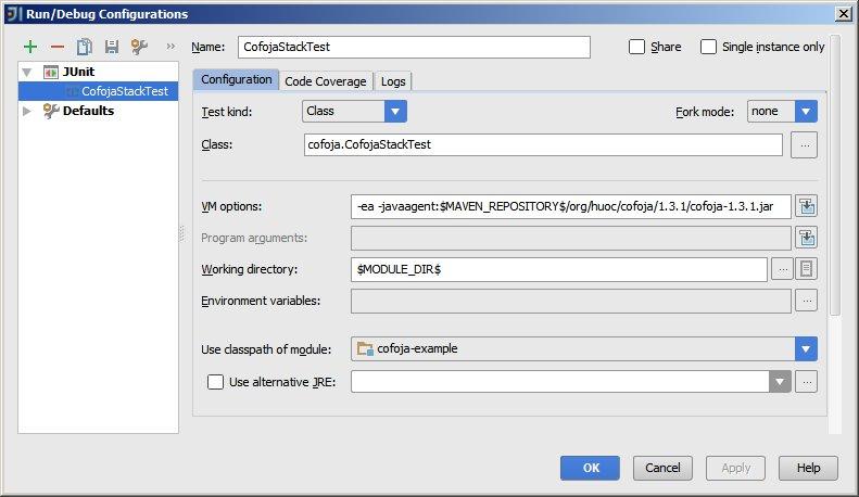 IDEA Run Configuration JUnit