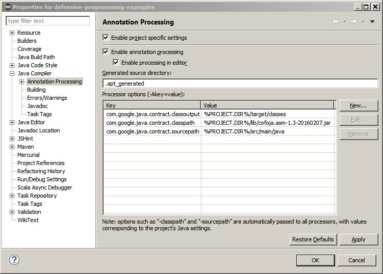 Eclipse Project Annotation Processing